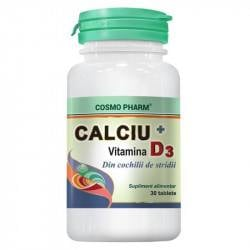 Cosmo Calciu + Vitamina D3, 30 tablete