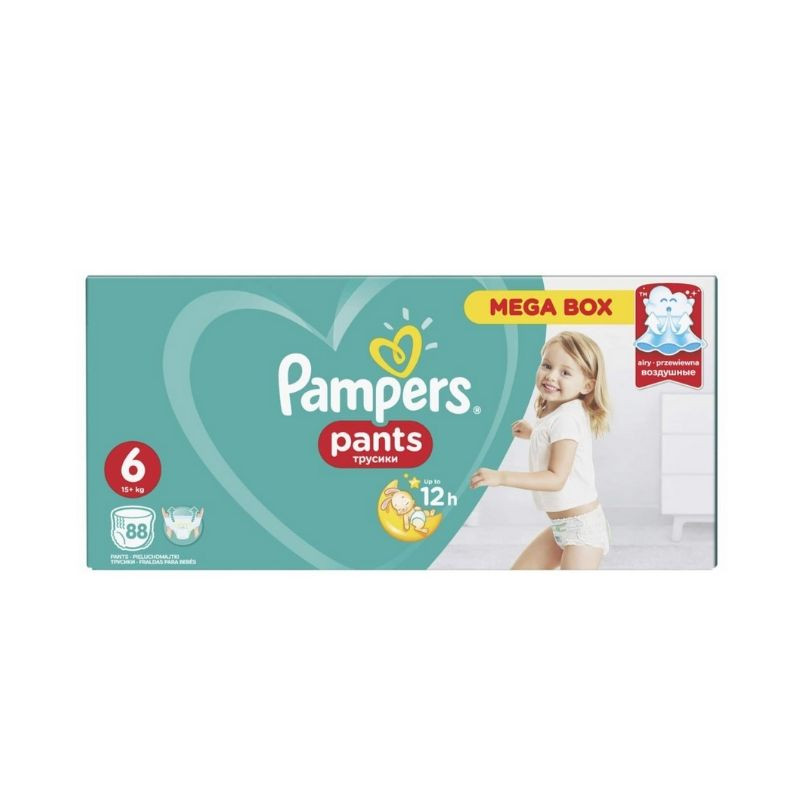 Scutece-chilotel Pampers Pants Active Baby, 15+ kg, marimea 6, 88 bucati