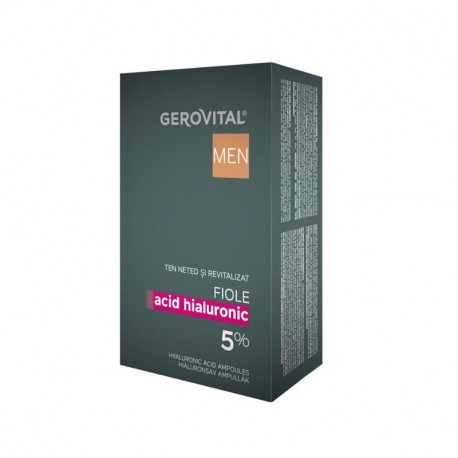 GH3 Men Fiole cu acid hialuronic 5% 3560, 10*2 ml