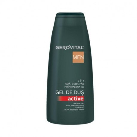 GH3 Men Gel de dus Active 3 in 1, 4500, 400 ml