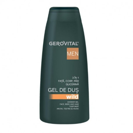 GH3 Men Gel de dus Wild 3 in 1 4520, 400 ml