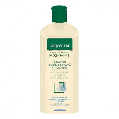 11500 Gerovital Tratament Expert Sampon antimatreata cu ichtiol, 250 ml