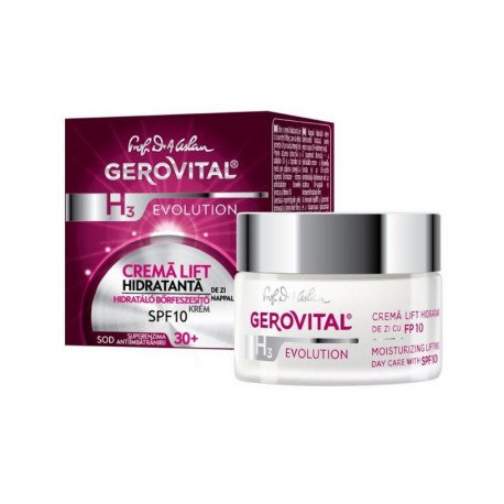 Gerovital H3 Evolution Crema lift hidratanta SPF10, 50ml