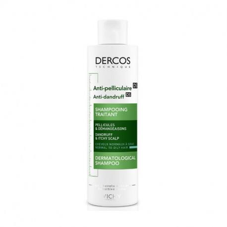 Dercos sampon antimatreata pentru par gras si normal, 200ml, Vichy