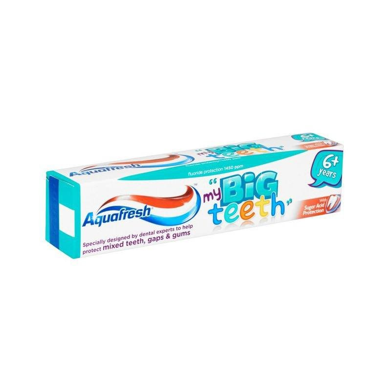 Aquafresh pasta dinti Big teeth 6+ ani