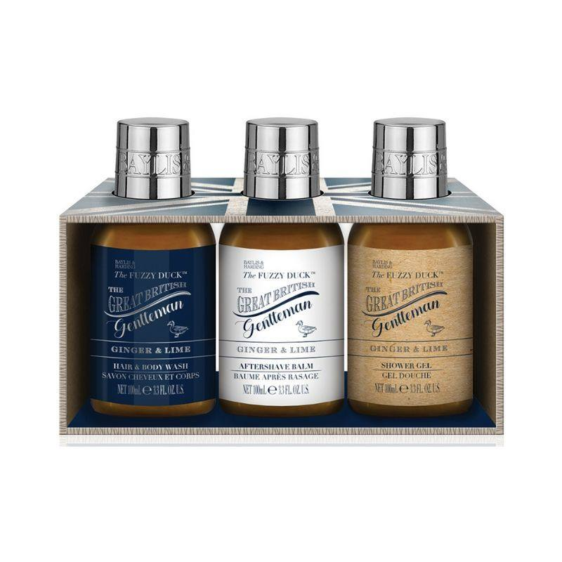 Baylis & Harding Set cadou Fuzzy Duck Men's Ginger & Lime Trio- Luxury bathing essentials