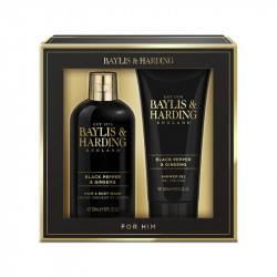 Baylis & Harding Set cadou Duo Signature Men's Black Pepper & Ginseng- Luxury bathing essentials
