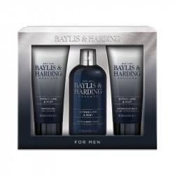 Baylis & Harding Set cadou Trio Signature Men's Citrus Lime & Mint- Luxury bathing set