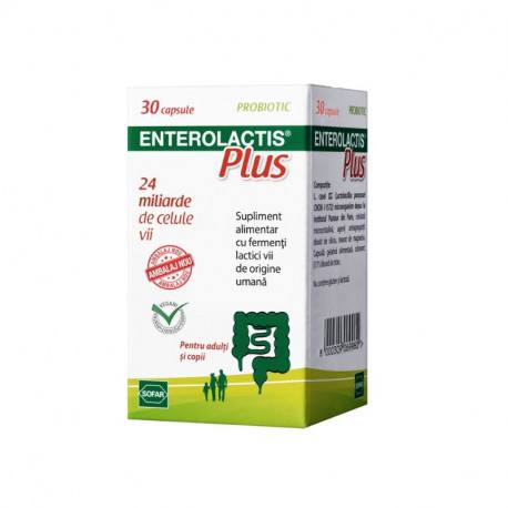 Enterolactis Plus, 30 capsule