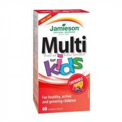Jamieson Multi Kid cu fier, 60 tablete masticabile