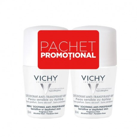 VICHY-Bi-pack deo roll-on 48h fara parfum