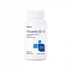 GNC Vitamina D3 1000 UI, 180 tablete