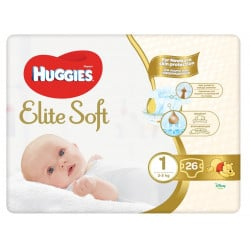 Huggies Nr.1 Elite Soft 3-5kg , 26 bucati