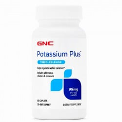 GNC Potassium Plus 99 mg, 60 tablete