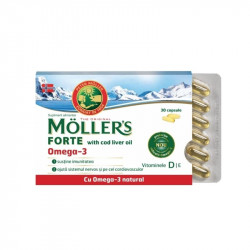 Moller`s Forte with cod liver oil Omega-3, 30 capsule