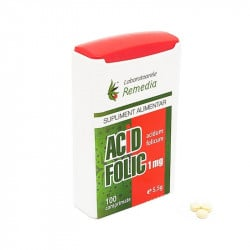 Acid folic 1mg, 100 comprimate REMEDIA