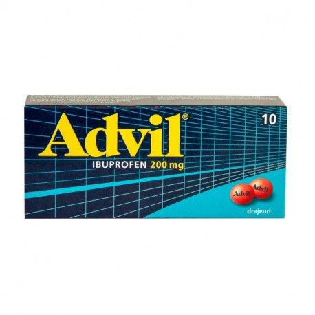 Advil 200 mg, 10 drajeuri