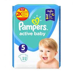 Pampers nr.5 Active Baby 11-16kg Carry Pack , 22 bucati