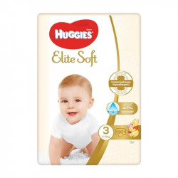 Huggies Nr.3 Elite Soft Mega 5-9kg, 80 bucati