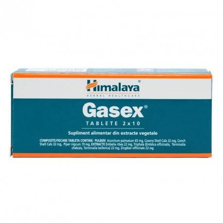 Gasex, in caz de disconfort abdominal, balonare, 20 tablete
