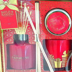 Baylis & Harding Set cadou Trio Midnight Fig and Pomegranate Festive Home Fragrance Ultimate