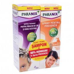 Pachet Paranix sampon x 100 ml + spray preventie x 100 ml 50