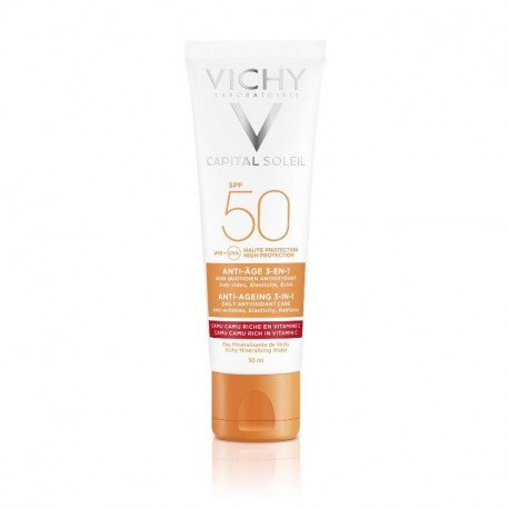 Vichy Capital Soleil Crema antioxidanta antirid 3 in 1 SPF 50, 50 ml