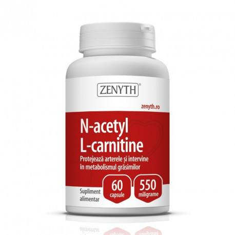 N-Acetyl L-Carnitine 550 mg x 60 cps.