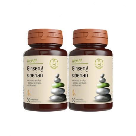 Alevia Ginseng siberian 250 mg pachet 30 cpr + 30 cpr