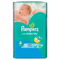 Pampers nr 4, Active Baby Dry, 8-14 kg, 13 bucati