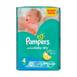 Pampers  Nr. 4 Giant dry baby 7-14kg, 76 buc