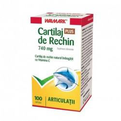 W Cartilaj de rechin 740 mg PLUS vitamina C, 100 capsule