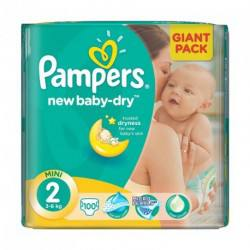 Pampers nr 2, New Baby Mini, 3-6 kg, 100 bucati