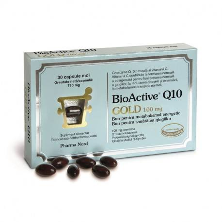 BioActive Q10 Gold 100 mg, 30 capsule moi