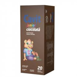 Cavit junior cu aroma de ciocolata, 20 tablete masticabile