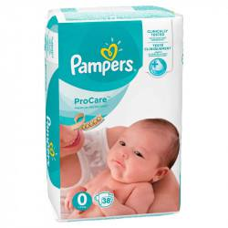 Pampers nr 0 ProCare, 38 bucati