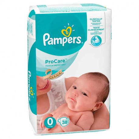 Pampers nr. 0 ProCare, 38 bucati