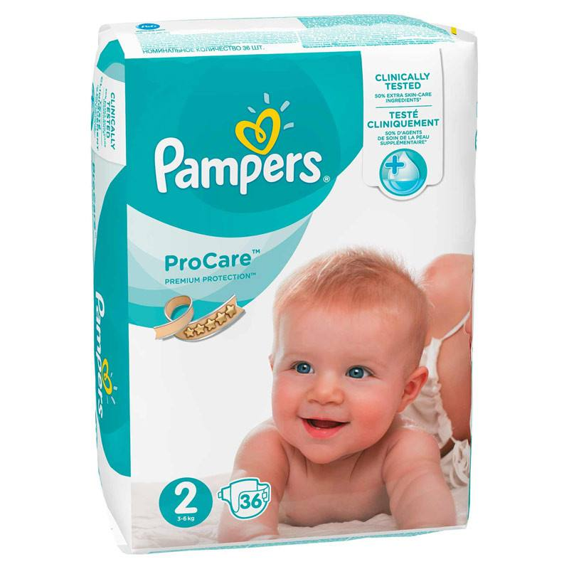 Pampers nr 2, ProCare, 3-6 kg, 36 bucati