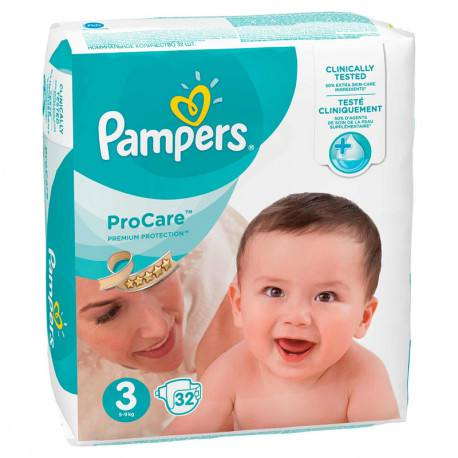 Pampers nr.3 ProCare, 32 bucati