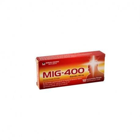 Mig-400, 1 blister x 10 comprimate filmate