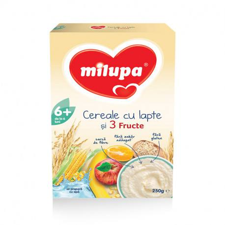 Milupa Cereale 3 fructe 250g