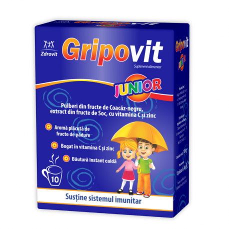 Gripovit junior x 10 plicuri