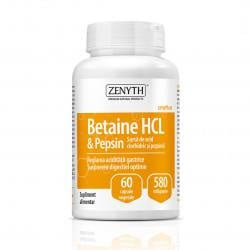 Betain HCL & Pepsin, 580mg,  60 capsule, Zenyth