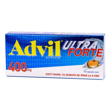 Advil Ultra Forte 400 mg x 10 caps. moi