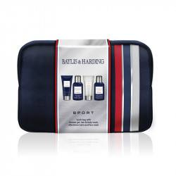 Baylis and Harding  Set 5 piese - Borseta cosmetice/ Sampon 100ml/ Gel curatare ten 100ml/ Aftershave 50ml/Gel dus 50ml