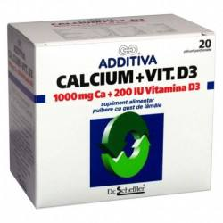 Additiva Ca 1000mg+Vit.D3 x 20 plic.
