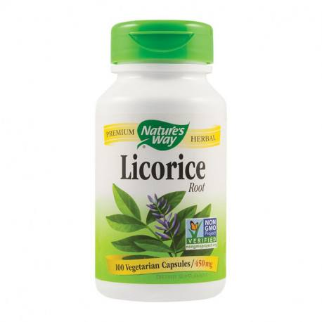Secom Licorice (Lemn dulce) 450mg, 100 capsule vegetale