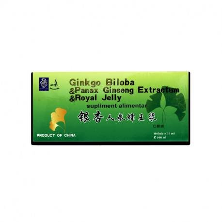Ginkgo Biloba & Royal Jelly & Ginseng NATURALIA DIET, 10 fiole x 10 ml