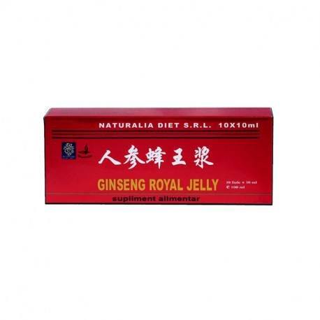 Royal Jelly & Ginseng NATURALIA DIET, 10 fiole x 10 ml