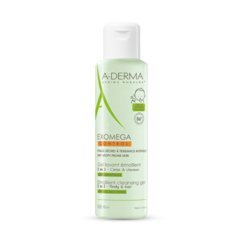 Aderma Exomega Control Gel 2 In 1, 500 ml